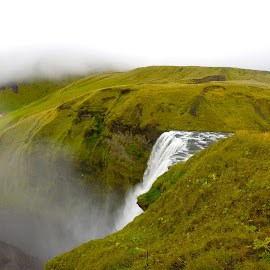 top of Skogafoss  by Tyrell Heaton - Instagram & Mobile Other ( iceland, gopro, waterfall,  )