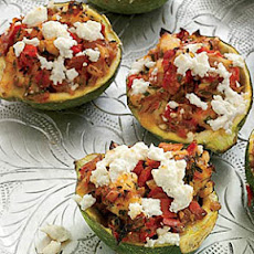 Shrimp-and-Feta-Stuffed Zucchini