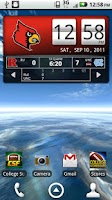 Screenshot of Louisville Cards Live Clock