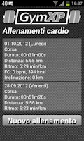 Screenshot of GymXP - versione italiana