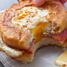 Egg-in-a-Nest Benedict Sandwiches Recipe