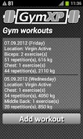 Screenshot of GymXP