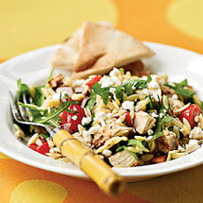 Chicken-Orzo Salad with Goat Cheese