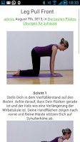 Screenshot of Pilates Übungen