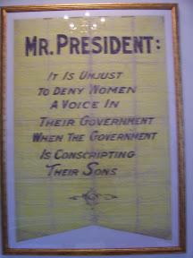 Suffragist banner