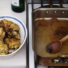 Roasted Herbed Chicken With Vermouth Pan Sauce
