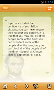 Lincoln Quotes - screenshot