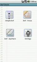Screenshot of DoF Droid