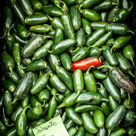 Red by Dave Lord - Food & Drink Fruits & Vegetables ( red, price, market, jalapeno, green, hot, pepper, sale )
