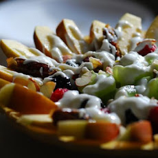 Orange Blossom Yogurt Dressing With Fruit
