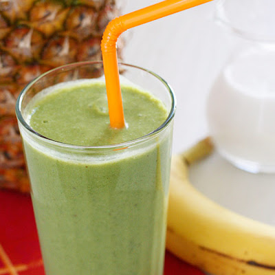 Skinny Green Tropical Smoothie