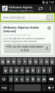 Afrikaans-Algerian Arabic - screenshot