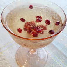 Pomegranate Cranberry Champagne Cocktail