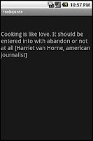 Screenshot of cookquote