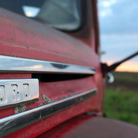 left alone by Kimberly Mehrer - Transportation Automobiles ( abstract, old, days, truck, sunset, ford, antique )
