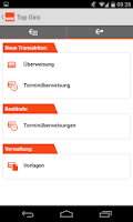 Screenshot of Wüstenrot Mobile Banking