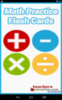 Screenshot of Math Practice Flash Cards