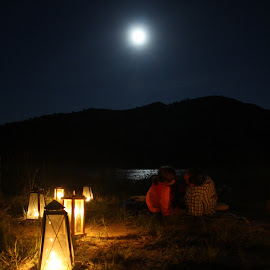 by Laura Gardner - Novices Only Portraits & People ( water, date night, moon, super moon, nd, candle light )