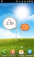 Screenshot of StarPet Clock Widget - Orange