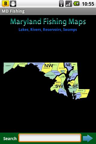 Maryland Fishing Maps - 5.4K
