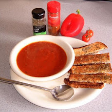 Red Pepper, Tomato and Onion Soup.