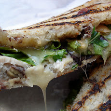 Grilled Smoked Turkey, Taleggio, Gorgonzola, and Apple Sandwich