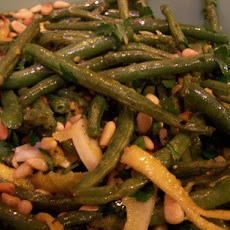 Roasted Green Beans With Lemon, Pine Nuts & Parmigiano