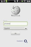 Screenshot of Wikipedia Czech O2