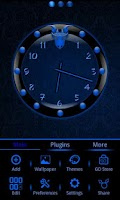 Screenshot of Blue Sphere Go Launcher Theme