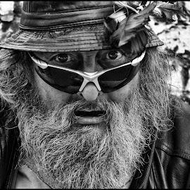 Vrijbuiter  by Etienne Chalmet - People Street & Candids ( black and white, street, men, people, portrait,  )