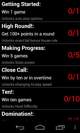 Ten (Card Game, No Ads:) - screenshot