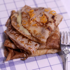 Chestnut Flour Crepes with Tangerine Curd