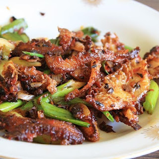 Stir-fried Tripe with Chili Bean Paste