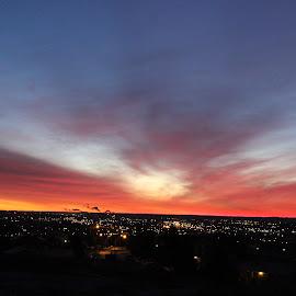 Dramatic Dawn by Angie Robinson - City,  Street & Park  Skylines