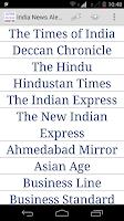 Screenshot of India News Alerts