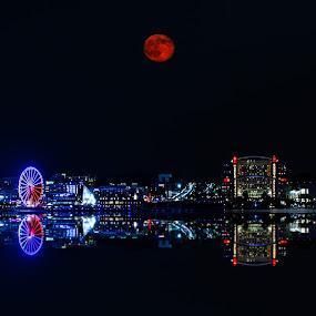 Blood Moon by Dan Girard - City,  Street & Park  Night ( 2014, dan girard photography, sunset, landscape )