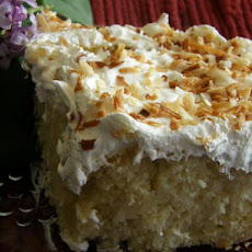 Cream of Coconut Poke Cake