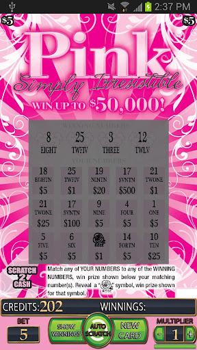 PINK Lotto Scratch Card - screenshot