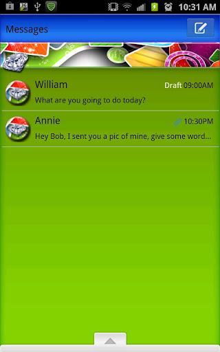 GO SMS - Abstract Diamonds