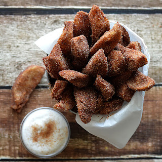 Apple Fries with Vanilla Whipped Cream (Vegan)