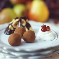 Meringue Petits Fours with Anise Cream and Pomegranate