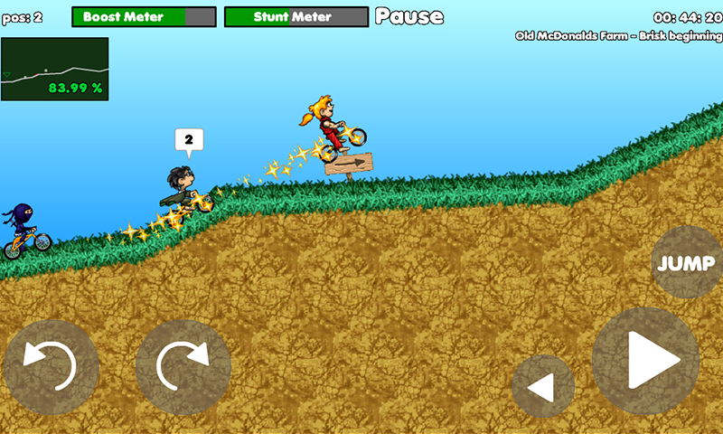 Stunt dirt bike 2 racer is a platform racing game where you must complete e