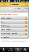 Screenshot of OfficeMax