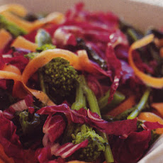 Broccoli Rabe, Carrot, and Radicchio Salad