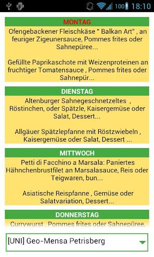 MensaFoodApp - Mensa Uni Trier