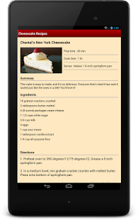 Cheesecake Recipes - screenshot