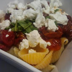 Penne With Slow Roasted Cherry Tomatoes and Goat Cheese