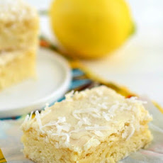 Lemon Coconut Blondies