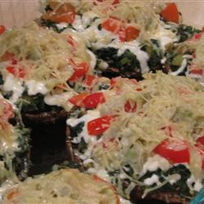 Vegetable-Stuffed Portobello Mushrooms