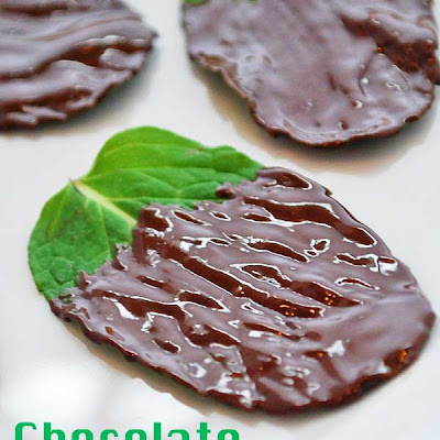 Chocolate Covered Mint Leaves